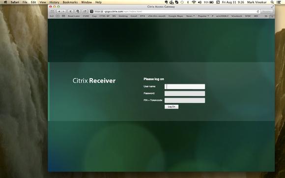 Mark Vinokur - Citrix Receiver Logon Page