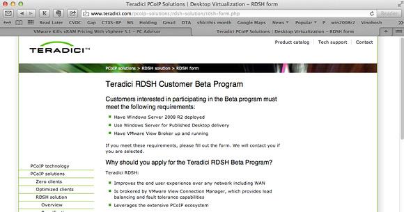 Mark Vinokur - Teradici Beta Anouncement for RDSH